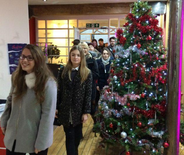 Christmas decorations at DigitasLBi Edinburgh