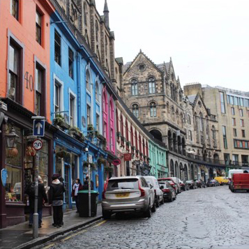 Colourful buildings on Victoria Street